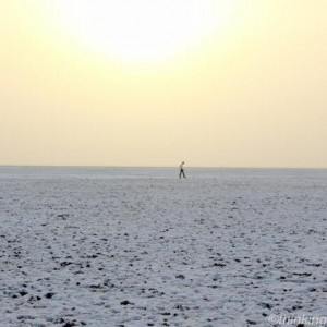 Sunset in White desert Kutch