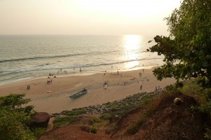 Varkala-beach-sunset