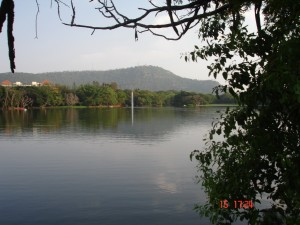 Chamundi_Hills_From_Karanji_Lake_Mysore